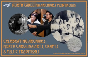 2015 NC Archives Month poster
