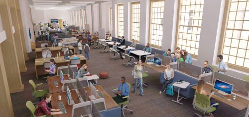 2016 Renovation concept: Collaborative spaces