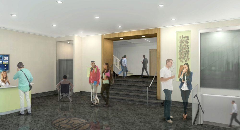 2016 Renovation concept: More welcoming entries, east entry