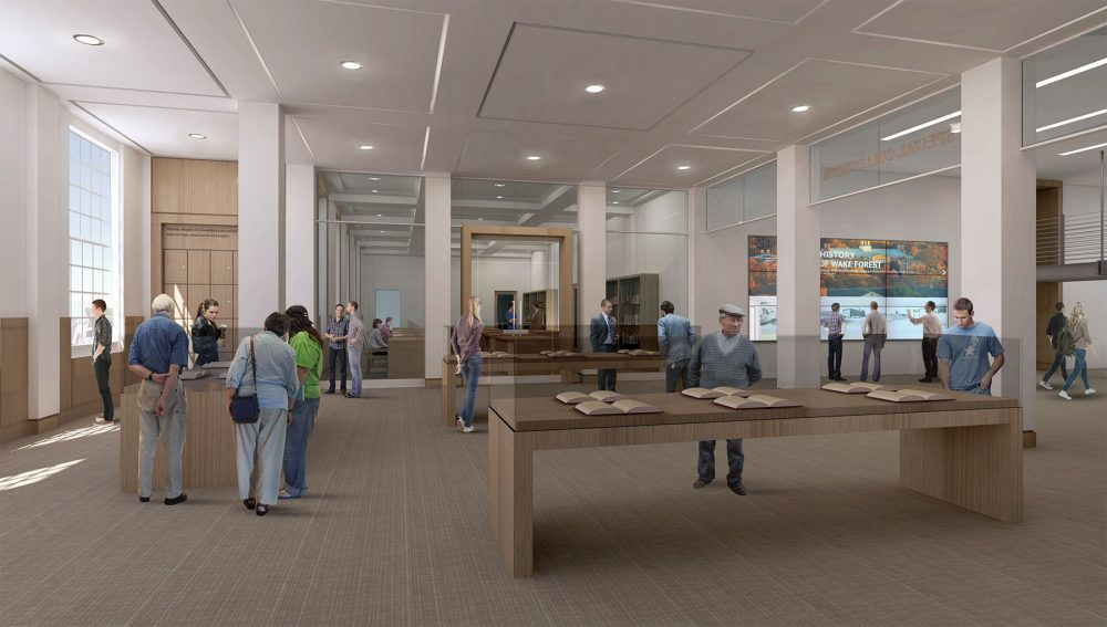 2017 Renovation concept: Special Collections & Archives