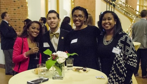 4 students pose at the 2016 Dean's List Gala.