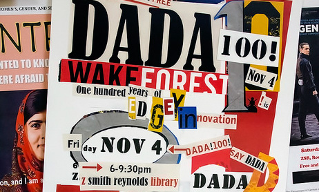 photograph of collage letter, DaDa Festival flyer