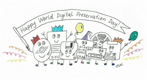 world digital preservation day cartoon