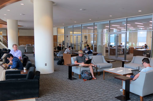 Business Information Commons Opens In Farrell Hall Zsr