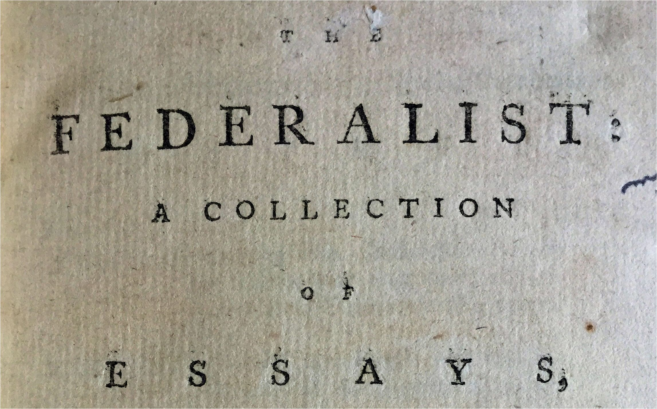 Federialist papers essay