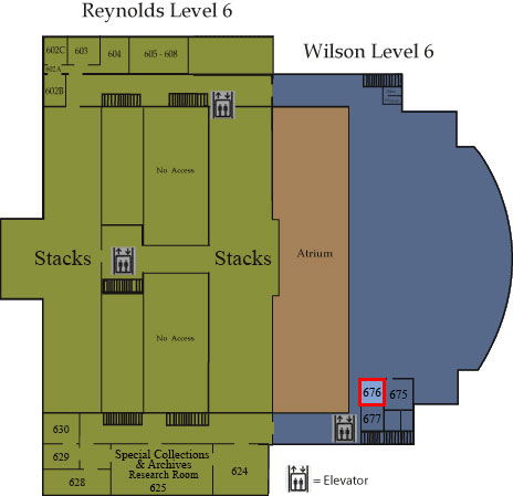 Floor map showing Room 676