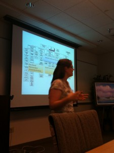Gretchen discussing Digital Collections at ECU