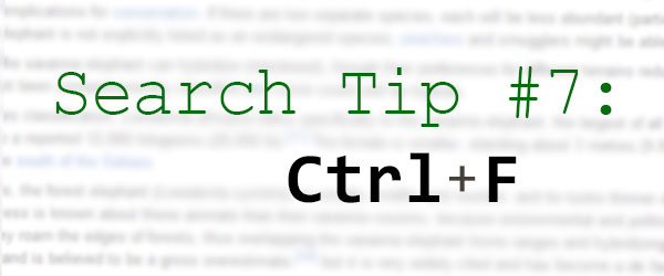 Search Tip 7 Ctrl F Zsr Library