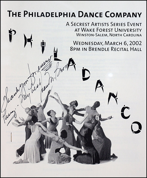 2002 Philadanco Signed Event Program