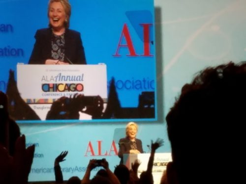Hillary Clinton at ALA 2017 in Chicago