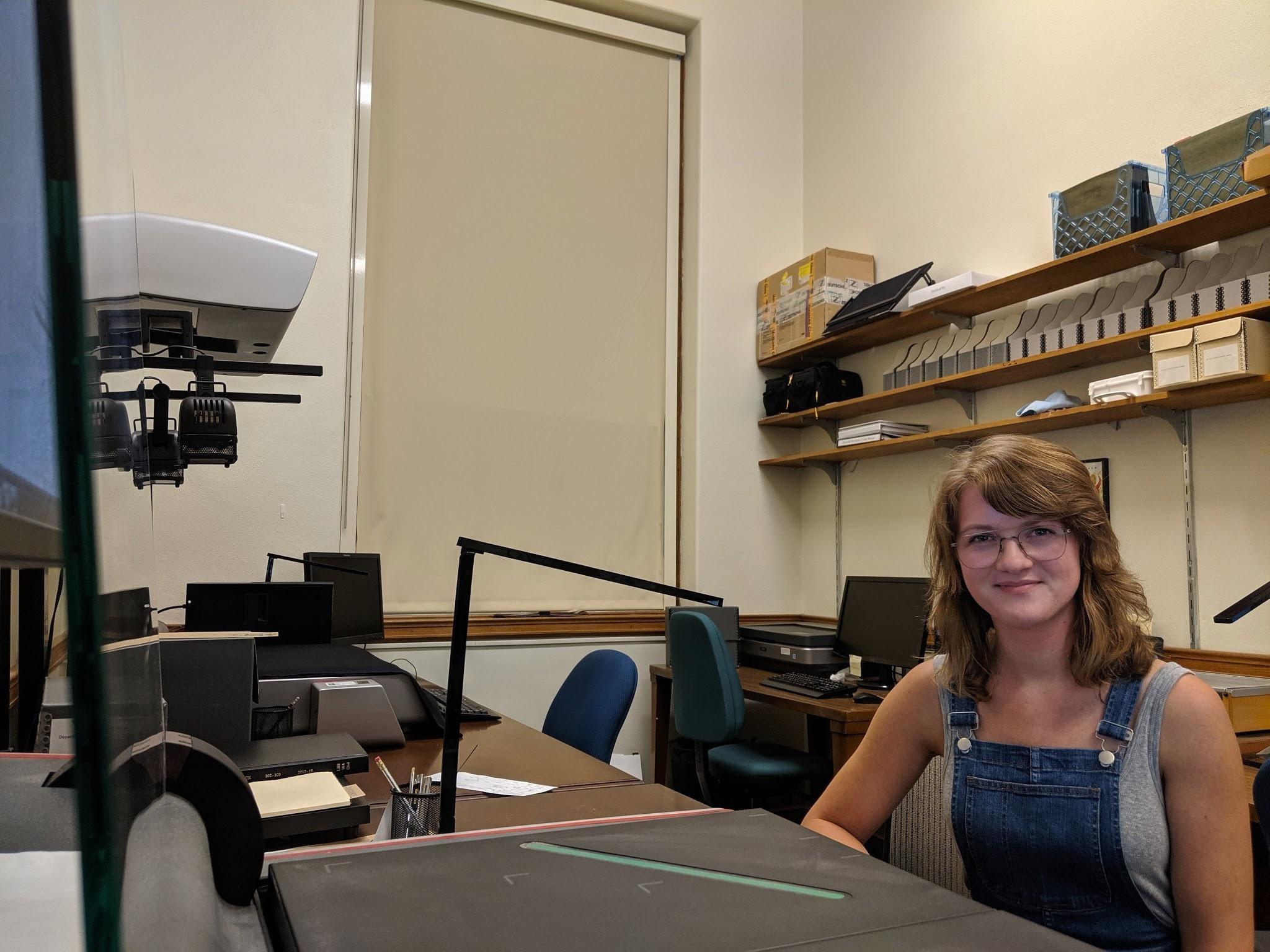 Archives Assistant Julia Ough And The Professor David L