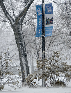 ALA Welcome Banner in the Snow
