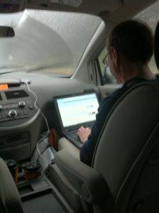 Giz online in the ZSR Van
