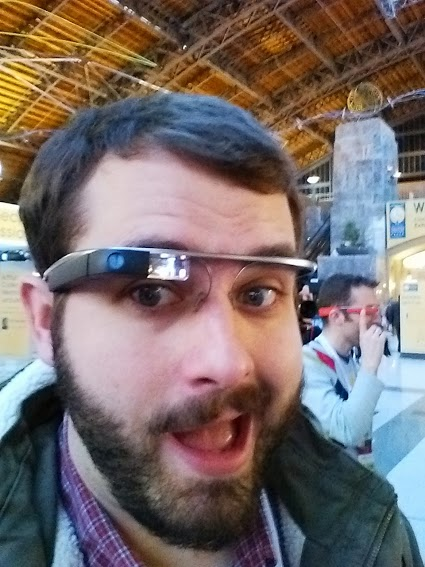 Your narrator, testing out Google Glass