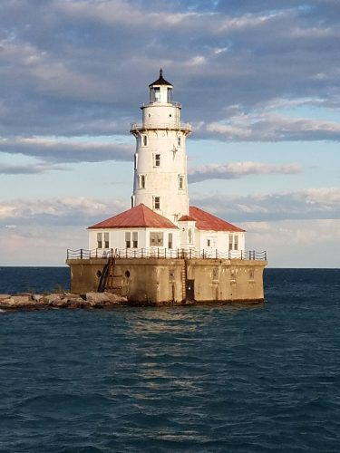 Lighthouse in Chicago bay