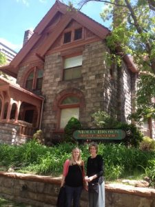 Joy and I at the Molly Brown house in Denver.