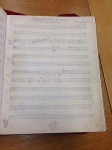 Original manuscript of Rhapsody in Blue