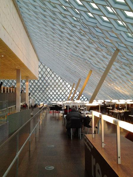 Seattle Public Library, top floor reading room