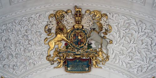 Stuart Coat of Arms on the roof of St. Clement Danes